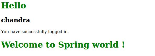 Spring MVC Login Form Example Tutorials - onlinetutorialspoint