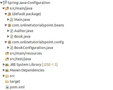 Spring Java Configuration