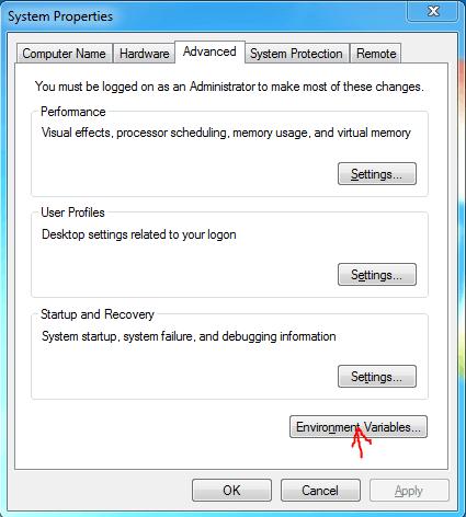 Install Maven systemproperties