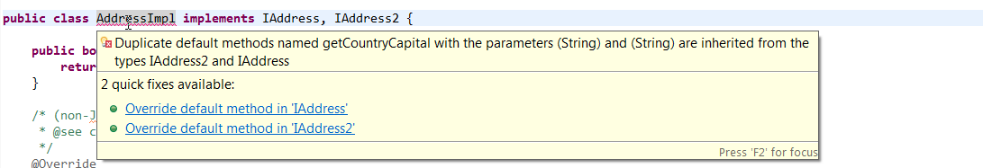 Default and Static methods in Interface error2