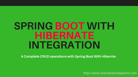 Spring Boot Hibernate CRUD Application