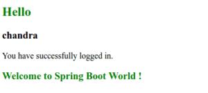 Spring Boot Mvc success