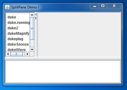 Spring JSplitPane Example