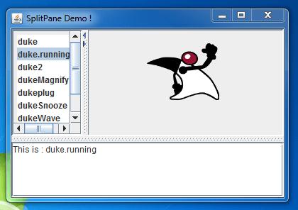 Spring JSplitPane Example 2