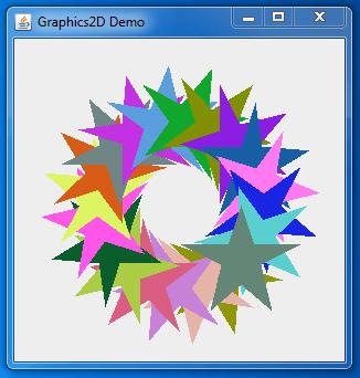 Java Graphics2D Class Example
