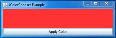 Java JColorChooser Example 5