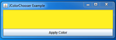 Java JColorChooser Example 7