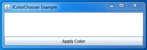 Java JColorChooser Example