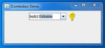 Java JComboBox Editable