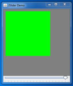 Java JSlider Example 3