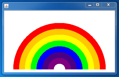 Java Rainbow using swing