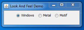 Swing setLookAndFeel Windows