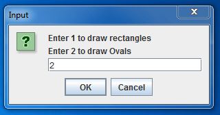 draw shapes using Graphics 3-