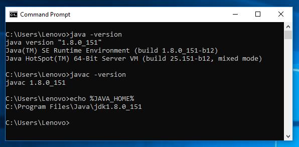 Java 8 - How to set JAVA_HOME on Windows10