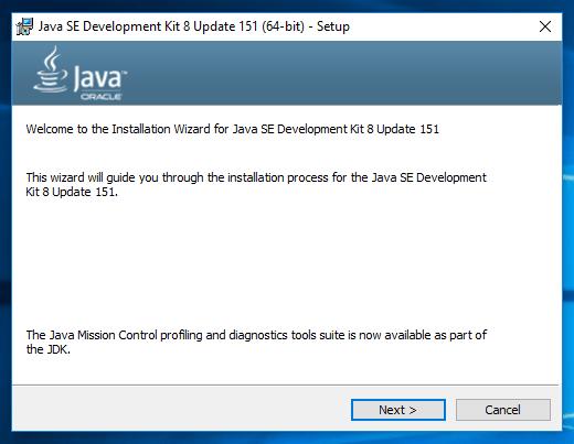Java8 on Windows10