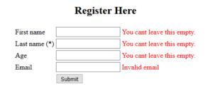 Spring MVC Form Validation Error
