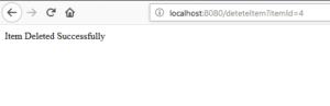 Spring Boot H2 Database DeleteItem