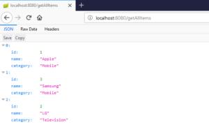 Spring Boot JdbcTemplate Example getAllItems