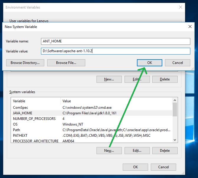 Install Ant on Windows 3
