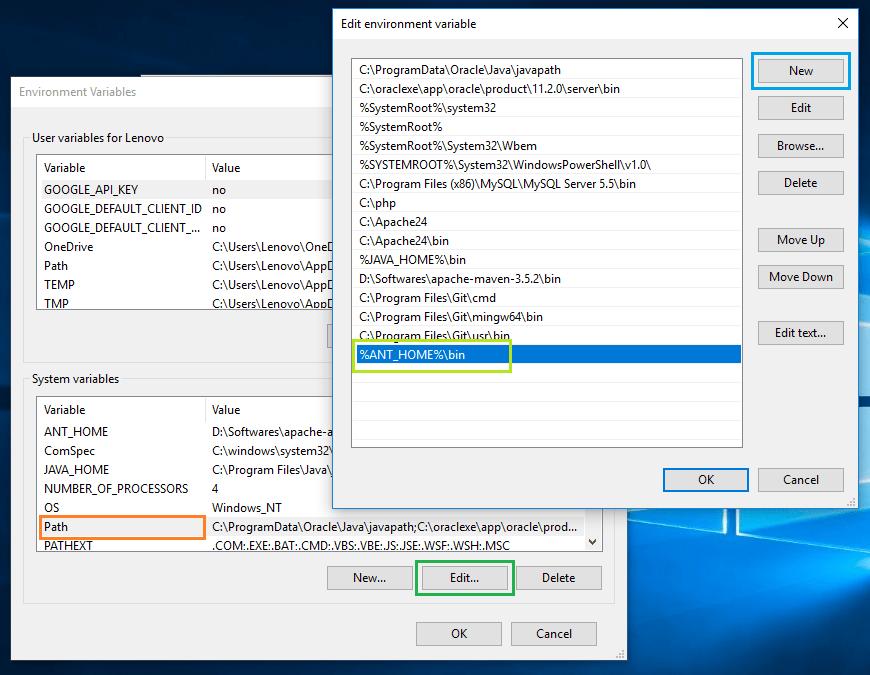 Install Ant on Windows 10 4