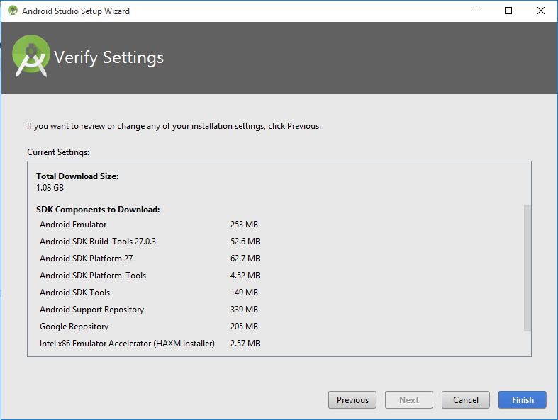 Install Android Studio setup