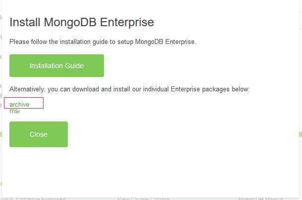 Install MongoDb 2