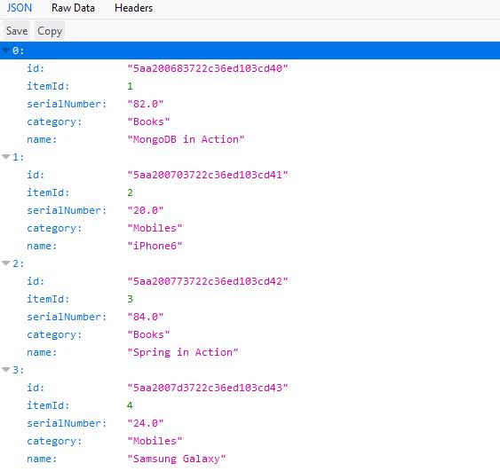 Spring Boot MongoDB Example 1