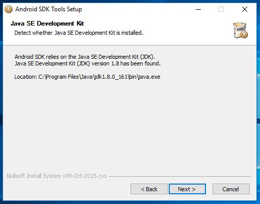 Android SDK Windows Manual Setup 2