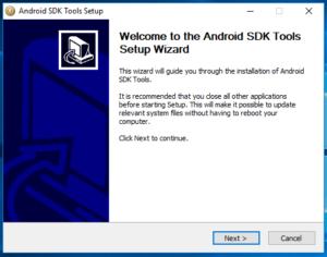 Android SDK Windows Manual Setup