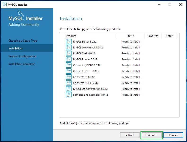 Install MySql on Windows 10 -12