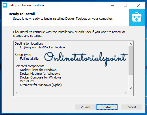 How to install Docker Toolbox on windows 10 6-min