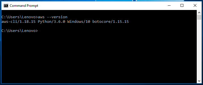 Install AWS CLI on windows 10 -4