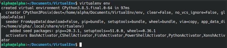 How to setup Python VirtualEnv